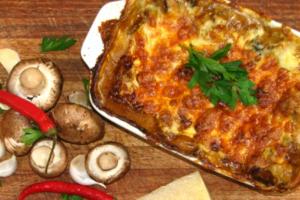 Παστίτσιο με λαζάνια και λαχανικά