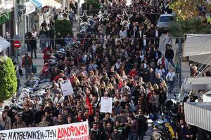 Ένταση στις συγκεντρώσεις στην Κρήτη