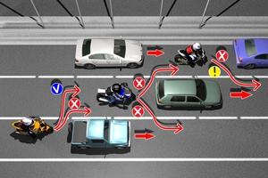 Οδήγηση με μοτοσυκλέτα σε κεντρικούς άξονες και αυτοκινητόδρομους