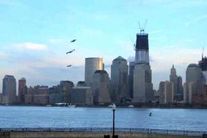 Ιπτάμενοι άνθρωποι στον ουρανό της Νέας Υόρκης