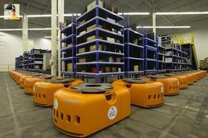 Η Amazon βάζει ρομπότ στις αποθήκες της