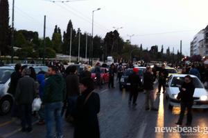 Έκλεισε η λεωφόρος Αμαλίας στο κέντρο της Αθήνας