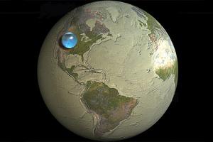 Όλο το νερό της Γης χωρά σε μία σφαίρα!