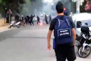 Βίντεο από τα σοβαρά επεισόδια στην Πεύκη