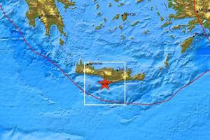 Δύο σεισμικές δονήσεις νότια του Ηρακλείου