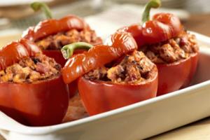 Γεμιστές πιπεριές με τυρί και καρότο