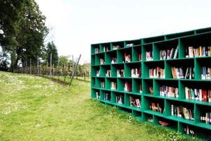 Υπαίθρια βιβλιοθήκη σε αμπελώνα!