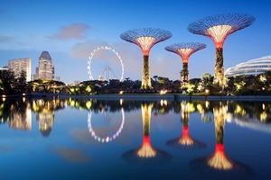 Τα «σούπερ δέντρα» φωτίζουν τον ουρανό της Σιγκαπούρης