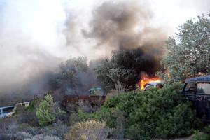 Πυρκαγιά στις Οινούσσες