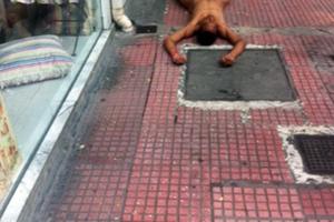Μια εικόνα που σοκάρει από το κέντρο της Αθήνας