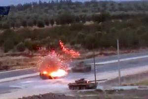 Επίθεση κατά συριακών τανκ