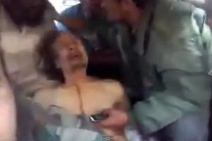 Σοκαριστικό βίντεο με τον Καντάφι