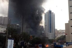 Στις φλόγες ουρανοξύστης στο κέντρο της Κωνσταντινούπολης