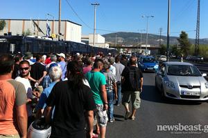 Κυκλοφοριακό κομφούζιο στην Αθηνών-Κορίνθου