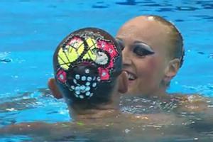Έκλεψαν την παράσταση οι Ουκρανές στη συγχρονισμένη κολύμβηση