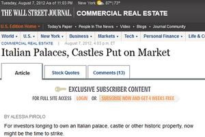 Η Ιταλία πουλά μέρος της ακίνητης περιουσίας της