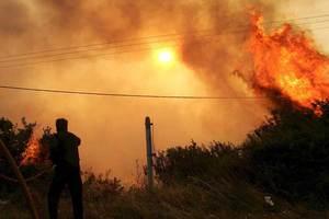 Πυρκαγιά στο Λαγκαδά Θεσσαλονίκης