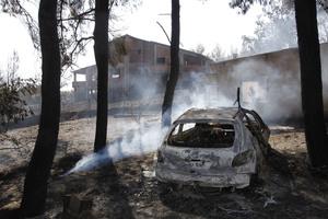 Υπό μερικό έλεγχο η μεγάλη πυρκαγιά στις Αφίδνες