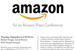 Συνέντευξη τύπου προγραμματίζει η Amazon τον Σεπτέμβρη