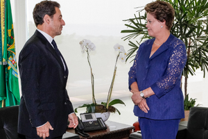 Με την πρόεδρο της Βραζιλίας συναντήθηκε ο Σαρκοζί