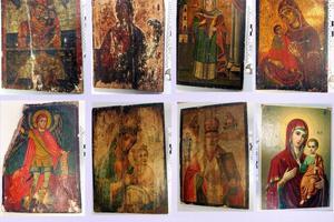 Κατάσχεση εικόνων που είχαν κλαπεί από ορθόδοξους ναούς