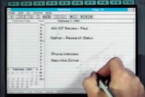 Η Microsoft σχεδίασε το πρώτο της λογισμικό για tablet το 1991