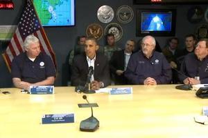 Το διάγγελμα του Ομπάμα για τον τυφώνα «Sandy»