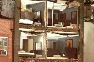 Κατέρρευσε η πρόσοψη κτιρίου στη Νέα Υόρκη