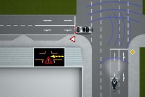 Σύστημα τυφλής επικοινωνίας αυτοκινήτου-μοτοσυκλέτας