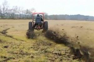 Drifting με τροποποιημένο τρακτέρ