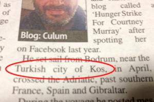 Προκλητικό βρετανικό δημοσίευμα αναφέρει την Κω ως τούρκικο νησί