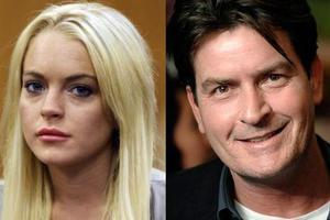 Ο Charlie Sheen «ξελάσπωσε» την Lindsay Lohan