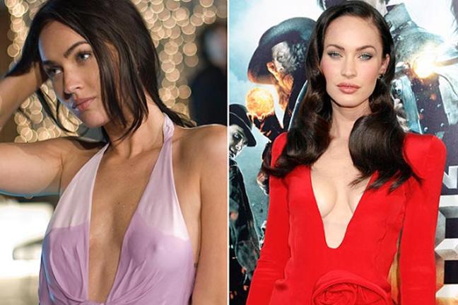 Сравнивая два снимка голливудской актрисы, невозможно не заметить увеличени