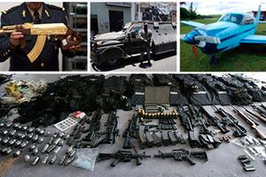 Ο βαρύς οπλισμός των καρτέλ ναρκωτικών του Μεξικού