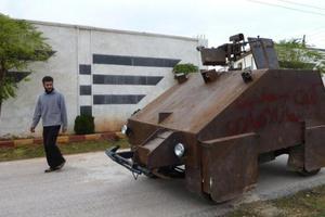 Το νέο χειροποίητο τανκ των Σύρων ανταρτών