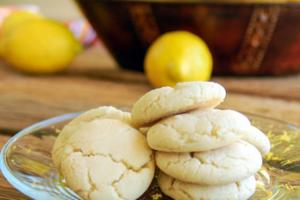 Μπισκότα λεμονιού με αμύγδαλο
