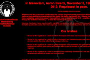 Συνέχεια στο θάνατο του Aaron Swartz δίνουν οι Anonymous