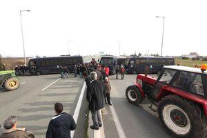 Συμβολικό κλείσιμο της Εγνατίας Οδού από αγρότες