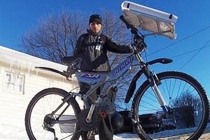 Ποδήλατο κινείται χάρη στην ηλιακή ενέργεια
