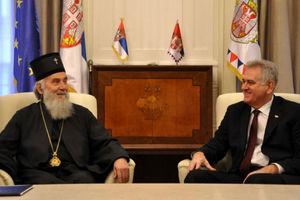 Συνάντηση του σέρβου προέδρου με τον πατριάρχη Ειρηναίο