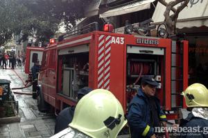 Πυρκαγιά σε πολυκατοικία στον Νέο Κόσμο