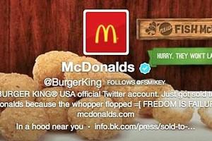 Ο λογαριασμός των Burger King «πουλήθηκε» στα... McDonald's