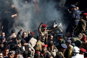 Συντριβή μαχητικού αεροσκάφους στην Σανάα