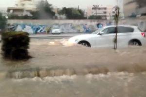 Εντυπωσιακό βίντεο από τις πλημμύρες στη Γλυφάδα