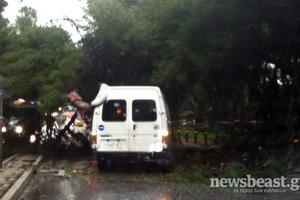 Δέντρο έπεσε στην Ούλοφ Πάλμε στα Ιλίσια