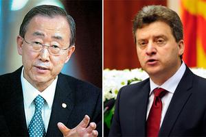 Για την ονομασία των Σκοπίων συζήτησαν Μπαν Κι-Μουν και Ιβάνοφ