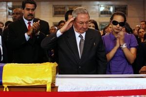 Βαθιά συγκίνηση στην κηδεία του Τσάβες