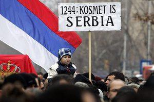 Συγκέντρωση διαμαρτυρίας έξω από τη σερβική Βουλή