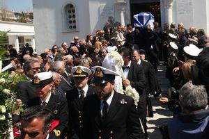Εψάλη η νεκρώσιμος ακολουθία για τον ναύαρχο Νικόλαο Παππά