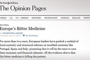 «Πικρό φάρμακο η λιτότητα που σκοτώνει την Ευρώπη»